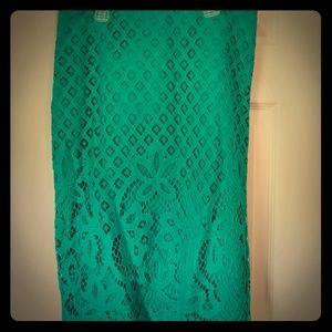 NWT Loft lace overlay pencil skirt